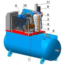 Винтовой компрессор с ременным приводом ВК40E-8(10/13/15)